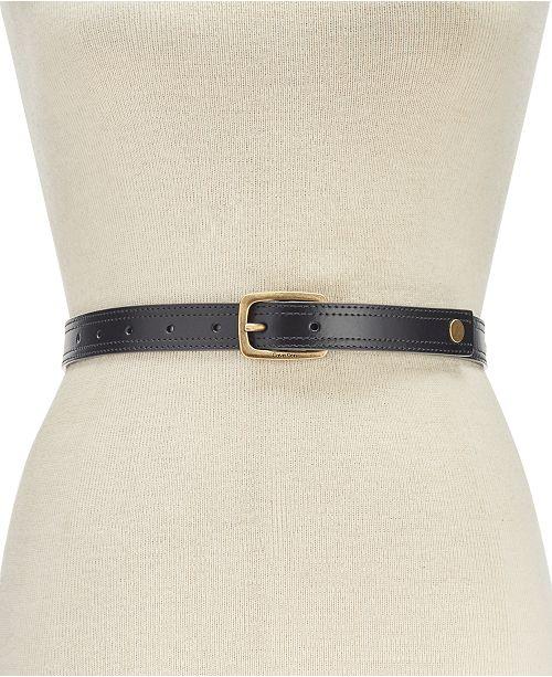 Calvin Klein Disc Rivet Stud Leather Belt