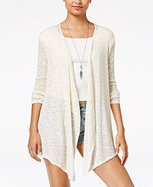 Volcom Juniors' Oh Boy Draped Wrap Cardigan