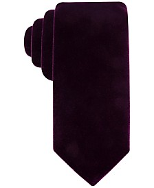 Ryan Seacrest Distinction™ Men's Velvet Solid Tie, Created for Macy's
