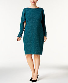 Calvin Klein Plus Size Split-Sleeve Dress