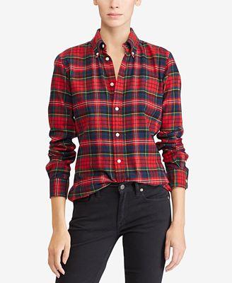 Polo Ralph Lauren Classic-Fit Cotton Flannel Shirt
