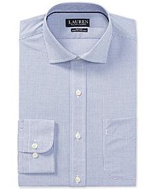 Lauren Ralph Lauren Men's Slim-Fit Stretch Non-Iron Rosewood/Blue Check Dress Shirt