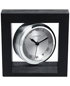 Decorative Accent Silver-Tone Clock