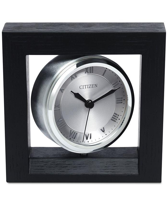 Citizen - Decorative Accent Silver-Tone Clock