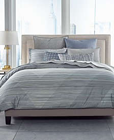 Cotton Diamond Stripe Full/Queen Duvet Cover, Created for Macy's
