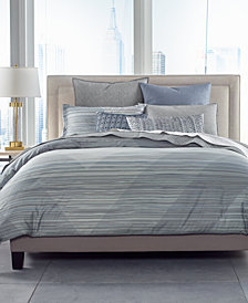 Hotel Collection Cotton Diamond Stripe Full/Queen Comforter, Created for Macy's