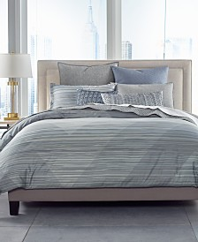 Hotel Collection Cotton Diamond Stripe King Duvet Cover, Created for Macy's