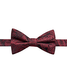 Ryan Seacrest Distinction™ Men's Pre-Tied Dover Paisley Silk Bow Tie, Created for Macy's