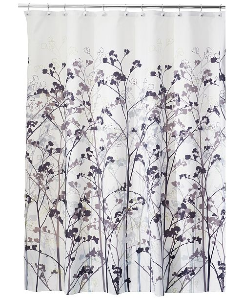 Interdesign Botanical Freesia 72 X Shower Curtain