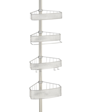 Interdesign Rain 4-Tier Tension Shower Caddy Bedding