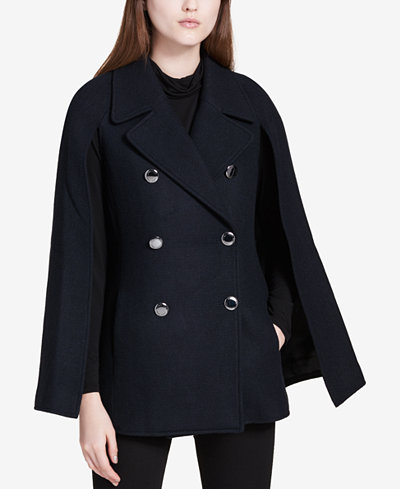 Calvin Klein Double-Breasted Cape Coat