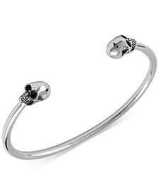 King Baby Men's Skull Cuff Bracelet in Sterling Silver