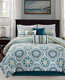 Madison Park Mercia 7-Pc. Cotton Reversible King Comforter Set