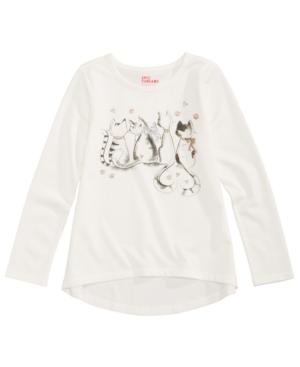 Epic Threads Cat GraphicPrint TShirt Little Girls (46x) Created for Macys
