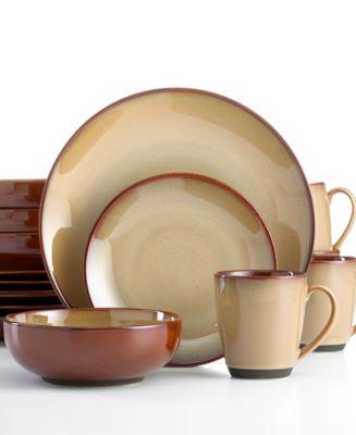 Product Details. With a homespun feel in hardy stoneware Sango\u0027s Nova Brown dinnerware ...  sc 1 st  Macy\u0027s & Sango Nova Brown 16-Pc. Set Service for 4 - Dinnerware - Dining ...