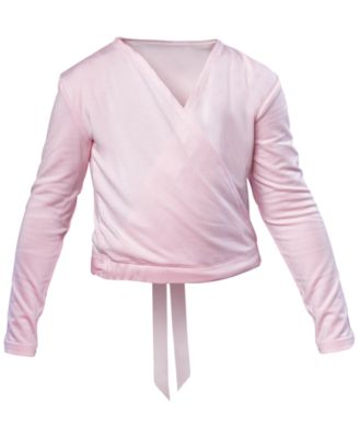 Satin-Tie Crossover Top, Little Girls & Big Girls
