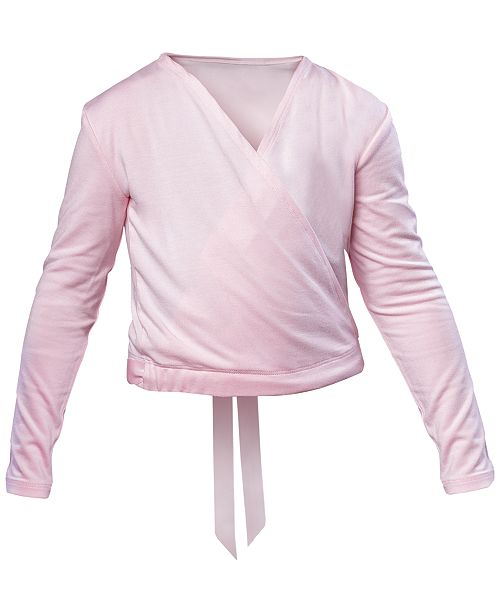 Flo Dancewear Satin-Tie Crossover Top, Little Girls & Big Girls