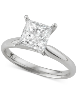 Princess Solitaire Engagement Ring (2 ct. t.w.) in 14k White Gold