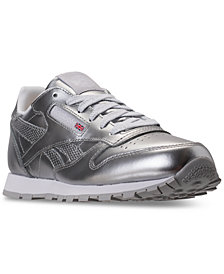 Reebok Big Girls' Classic Leather Metallic Casual Sneakers from Finish Line