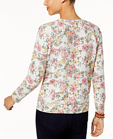 Style & Co Petite Printed Sweatshirt, Created for Macy's