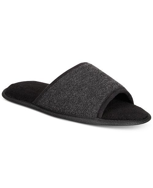 Men's Memory Foam Open-Toe Slippers