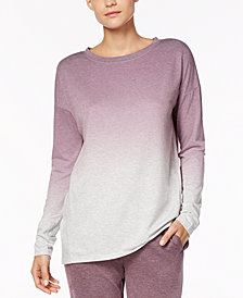 Alfani Dip-Dyed Pajama Top, Created for Macy's