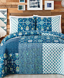 Jessica Simpson Murano Glass Reversible Cotton Quilt and Sham Collection