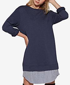 Avec Les Filles Layered-Look Sweatshirt Dress