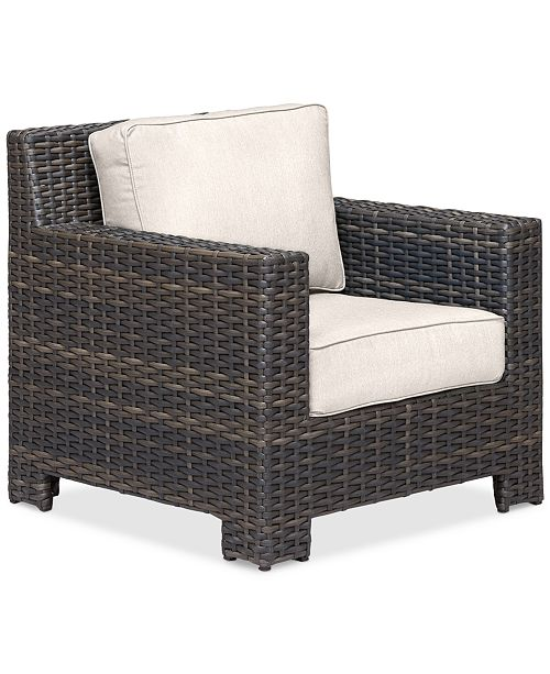 Furniture Viewport Wicker Outdoor Club Chair: with Custom Sunbrella® Colors, Created for Macy's