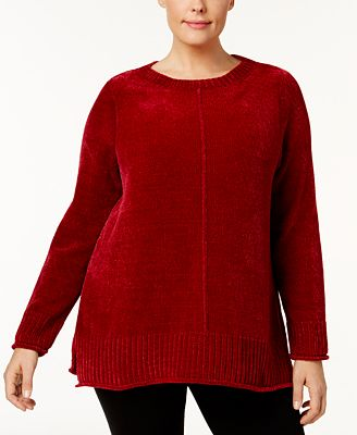 Style Co Plus Size High Low Hem Chenille Sweater Created For