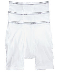 Jockey Men's 3-Pack Essential Fit Cotton Staycool+ Midway Boxer Briefs