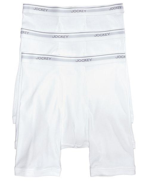 15d683c12737 Jockey Men's 3-Pack Essential Fit Cotton Staycool+ Midway Boxer Briefs
