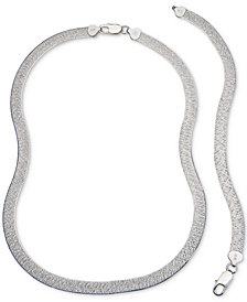 Giani Bernini Herringbone Jewelry Set in Sterling Silver, Created for Macy's
