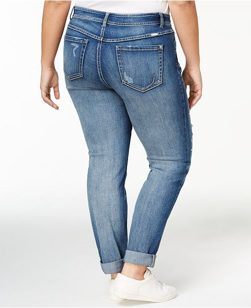 a82cd4e2f2692 ... INC International Concepts I.N.C. Plus Size Studded Distressed  Boyfriend Jeans