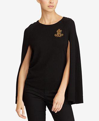 Lauren Ralph Lauren Petite Cape Sweater Sweaters Petites Macys