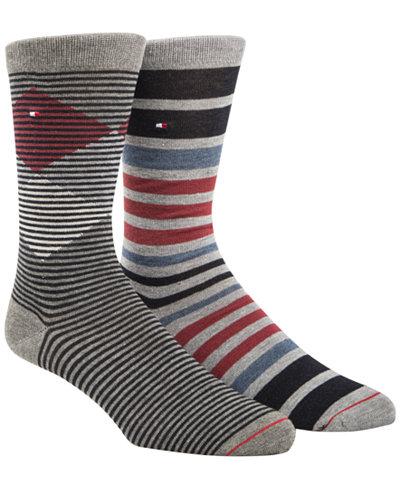 Tommy Hilfiger Men's 2-Pack. Diamond Stripe Socks