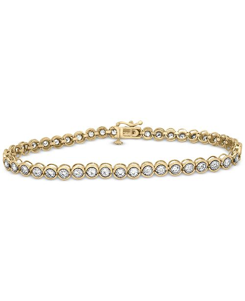 Macy's Diamond Miracle Link Bracelet (2 ct. t.w.) in 14k gold (Also available in 14k White Gold or 14k Rose Gold)