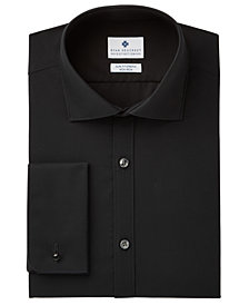 Ryan Seacrest Distinction™ Men's Slim-Fit Stretch Non-Iron Black French Cuff Dress Shirt, Created for Macy's