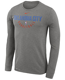 Nike Men's Oklahoma City Thunder Dri-FIT Cotton Practice Long Sleeve T-Shirt