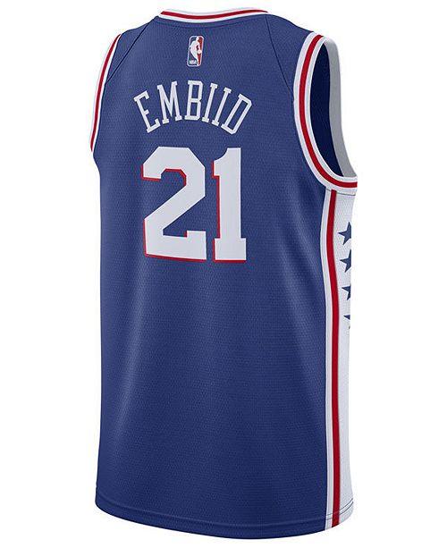 finest selection 63fd0 74d3c Men's Joel Embiid Philadelphia 76ers Icon Swingman Jersey