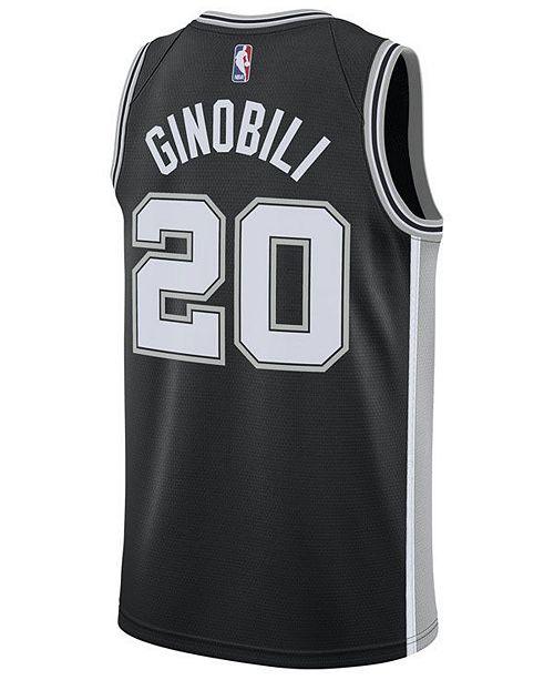 6373d63984a8 ... Nike Men s Manu Ginobili San Antonio Spurs Icon Swingman Jersey ...