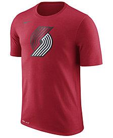 Nike Men's Portland Trail Blazers Dri-FIT Cotton Logo T-Shirt
