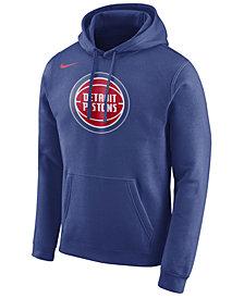 Nike Men's Detroit Pistons Logo Club Hoodie