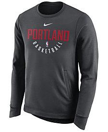 Nike Men's Portland Trail Blazers Practice Therma Crew Sweatshirt