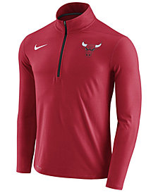 Nike Men's Chicago Bulls Half-Zip Element Long Sleeve T-Shirt