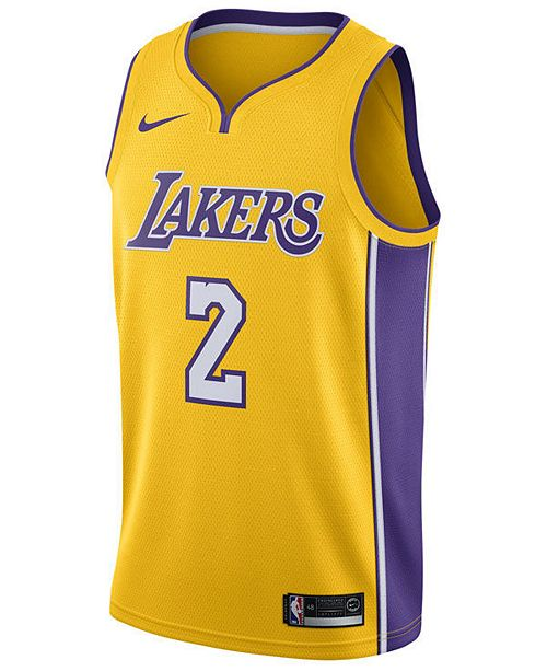 0bbfe7603b62 Nike Men s Lonzo Ball Los Angeles Lakers Association Swingman Jersey ...
