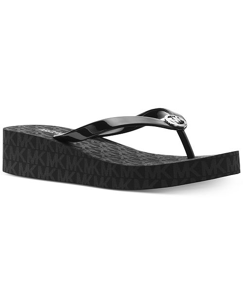 25a801e7a6de Michael Kors Bedford Platform Flip-Flops   Reviews - Sandals   Flip ...
