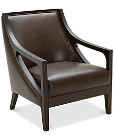 Tianah Leather Accent Chair, Created for Macy's