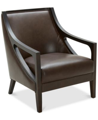 Tianah Leather Accent Chair, Created For Macyu0027s