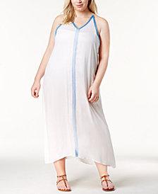 Raviya Plus Size Crochet-Trim Maxi Cover-Up Dress